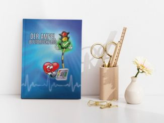 Blutdruck Dokumentation Pass blau