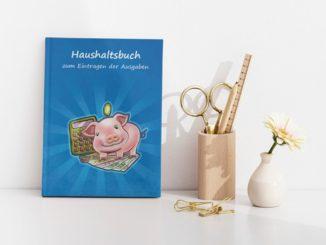 Haushaltsbuch Schwein mti Taschenrechner