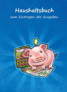 Haushaltsbuch blau